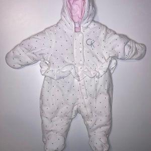 Calvin Klein Zip-up Footie Outerwear with Hoodie